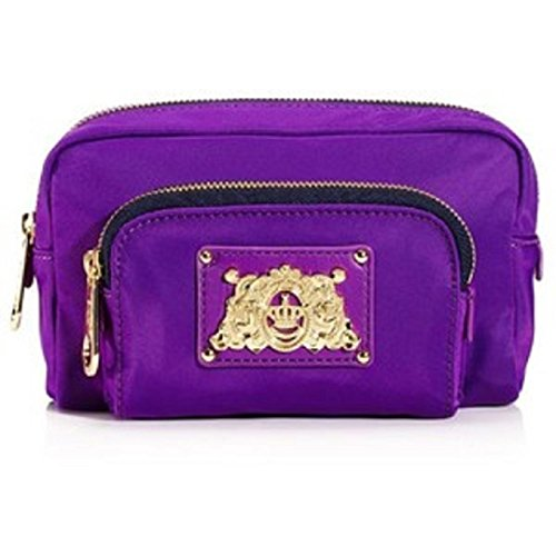 JUICY COUTURE NYLON COSMETIC DOUBLE ZIP BAG. YSRU2478 (NEW WITH TAG) (Juicy Couture Makeup Bags)
