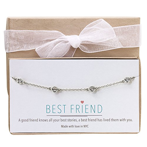 (AMY O Diamond by The Yard Bracelet in Sterling Silver, 14K Gold, 14K Rose Gold, Friendship Bracelet)