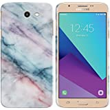 FINCIBO Galaxy J7 2017 Sky Pro Case, Back Cover Hard Plastic Protector Case Stylish Design For Samsung Galaxy J7 2017/ J7V J727 Sky Pro Perx - Purple Green Pink Marble