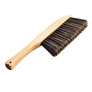 Exceart Soft Bristle Dusting Brush For Counter Woodworking Gardening Furniture Drafting Patio Fireplace Cleaning (Wood Color Random Wooden Grain)