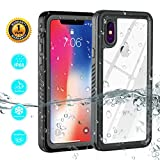 ZEMERO iPhone X Waterproof Case, Shockproof Dustproof Snowproof Full Body Protective Cover Phone Cases for iPhone 10/iPhone X (Gray)