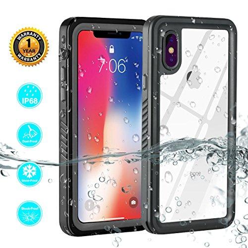 ZEMERO iPhone X Waterproof Case, Shockproof Dustproof Snowproof Full Body Protective Cover Phone Cases for iPhone 10/iPhone X (Gray) by ZEMERO