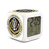 zdhkckao Led Alarm clockcat 7 Colors Switch US Office of Management and Budget Seal Kids Boy Sleep Trainer Bedside Night Light Light Alarm Clock Well Functional Large Alarm Clock Battery Operated