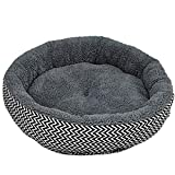 Yaloee Round Soft Dog House Bed Striped Pet Cat and Dog Bed Pet Products