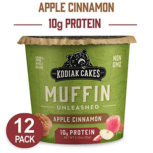 Kodiak Cakes Min Muffins High Protein Snack, Apple Cinnamon Oat, 2.29 Oz (Pack Of 12) (packaging May Vary) (Oatmeal Chocolate Chip Cookie In A Mug)