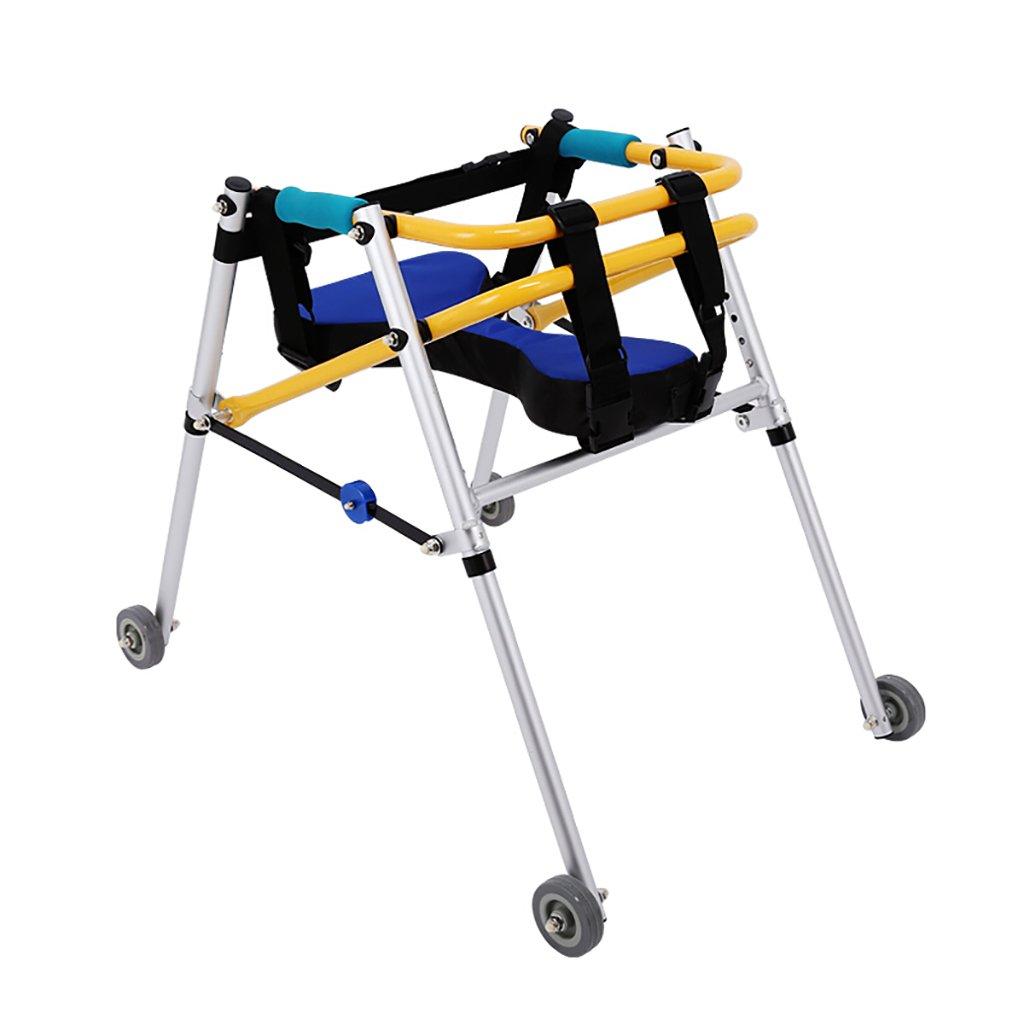 毎日 子供用歩行器/立ちウォッチングブラケットシートベルト付きアルミニウム合金補助車輪リハビリ用具 (サイズ さいず : King size) B07F588W29 King size  King size