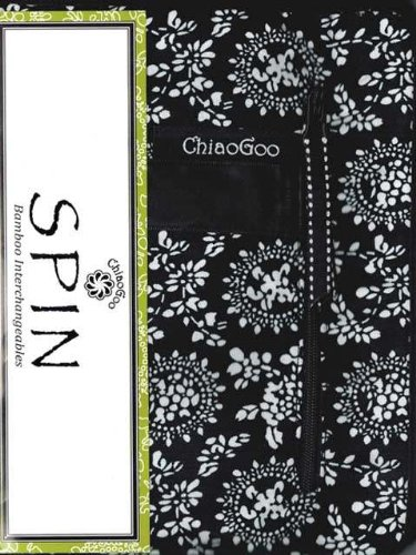 ChiaoGoo Spin Interchangeable Knitting Needle Set Complete: Size US 2 (2.75mm) - Size US 15 (10mm) 2500-C by ChiaoGoo