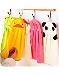 Win 1 Piece Lovely Cartoon Children Hand Dry Towel For Kids Kitchen Bathroom Kid Soft Plush Fabric Hang Towel For... opportunity