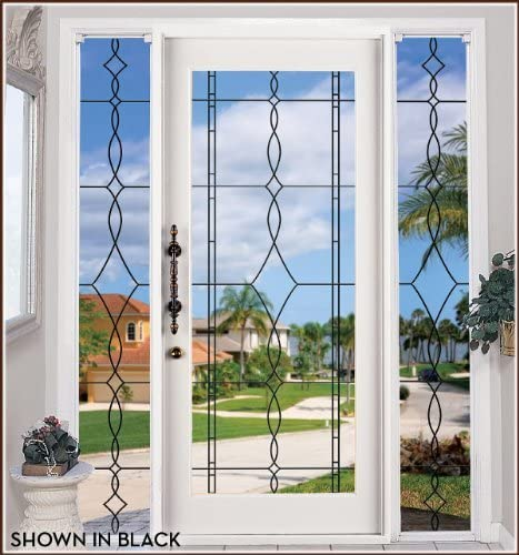 Allure Leaded Glass See-Through 24 x 86, Black