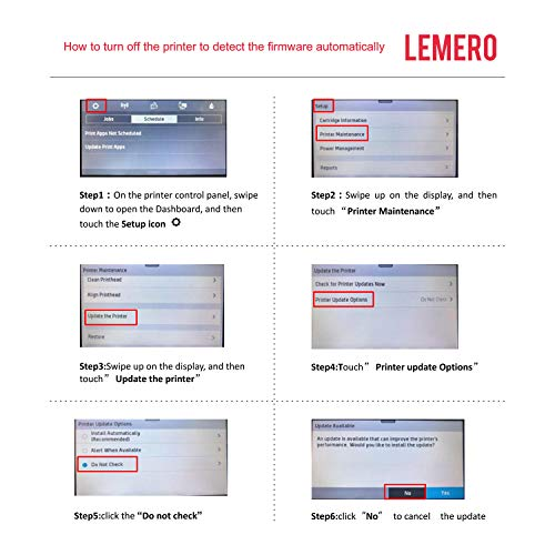LEMERO Remanufactured Ink Cartridges Replacement for HP 902 902XL 902 XL -  for Officejet Pro 6978 6958 6962 6968 6970 6960 6975 6950 Printer (Black