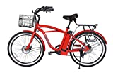 Newport Beach Cruiser Electric Bicycle - Red