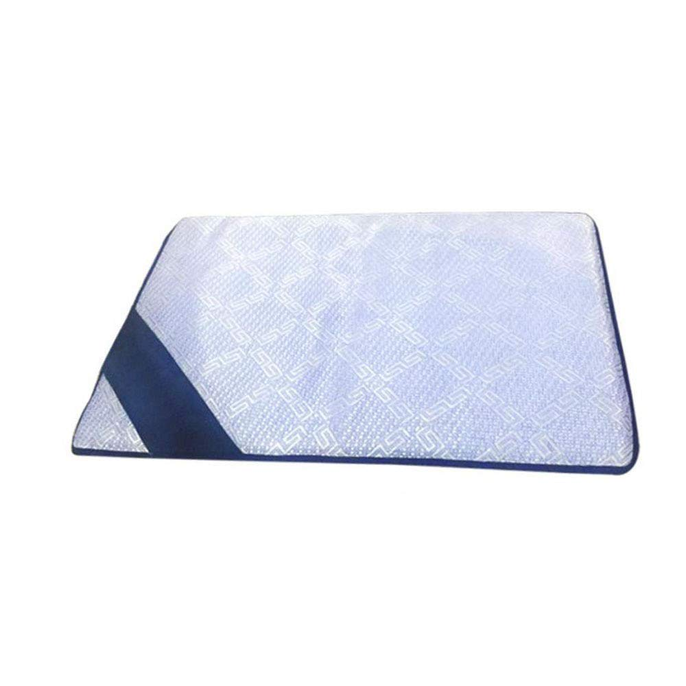 bluee 48382cmPremium Dog's Bed, bluee Eases Pet Arthritis \u0026 Hip Dysplasia Pain Therapeutic Supportive Ice Silk Summer (color   bluee, Size   48  38  2cm)