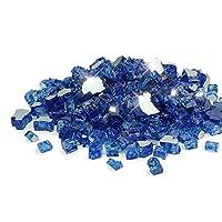 Golden Flame Ultra 20-Pound Fire Glass 1/2 Cobalt Blue Reflective