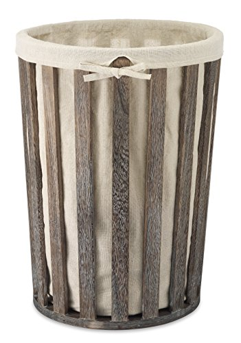 Whitmor Wood Laundry Hamper w/Liner - Attractive weathered wood design Liner bag is removable and washable, just take the liner bag out when you carry the dirty things Handsome addition to any room setting - laundry-room, hampers-baskets, entryway-laundry-room - 51sRs0jXciL -