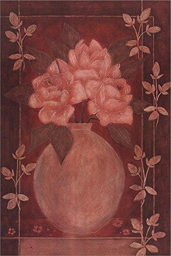 Fleurs Rouge I by Jennifer Carson Laminated Art Print, 24 x