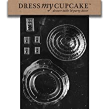 Dress My Cupcake DMCE140 Chocolate Candy Mold, Bunny Hut Pour Box, Easter