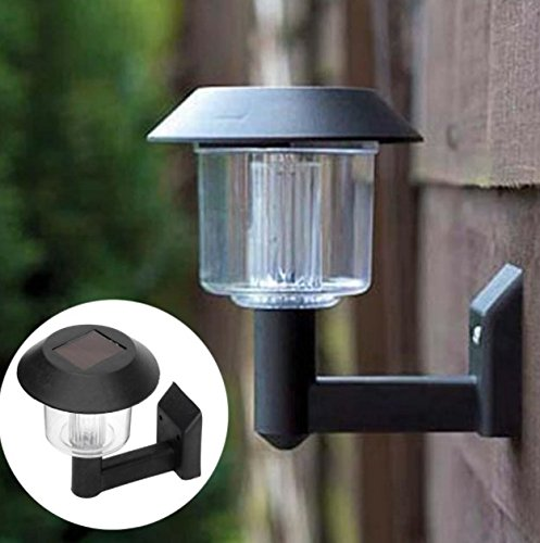 - Laz Tipa - Light Sensor Garden Fence Lamp Wireless Emergency Waterproof Solar Wall Lamp Christmas Light Outdoor Lighting
