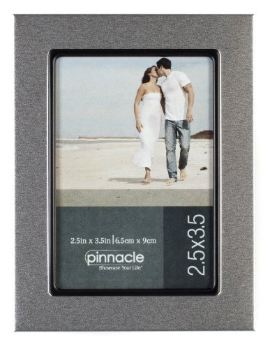 Amazoncom Pinnacle Frames Silver Desk Frame With Black Lip 25