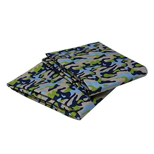 Bacati Crib Fitted Sheet, Camo Printed (Pack of -