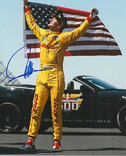 Ryan Hunter Autographed Photo - REAY 8x10 INDY 500 IRL INDY COA - Autographed College Photos ()