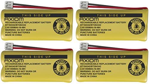 - 4 Pack AXIOM Home Phone Battery for ATT BT184342 BT28433