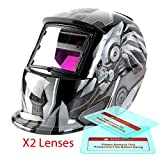 Proelectirc Robot 1 Print Professional Auto Darkening Solar Powered Welders Welding Helmet Mask With Grinding Function by Proelectric Co.