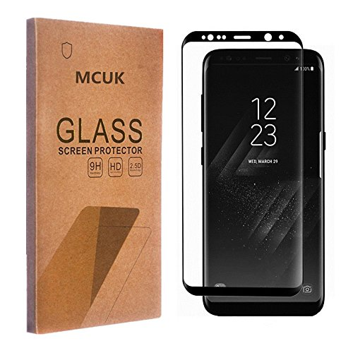 (Galaxy S8 Plus Screen Protector, MCUK [Full Coverage] Bubble-Free 3D Glass Tempered Glass Screen Protector for Samsung Galaxy S8 Plus/Galaxy S8+ (Full-Coverage))