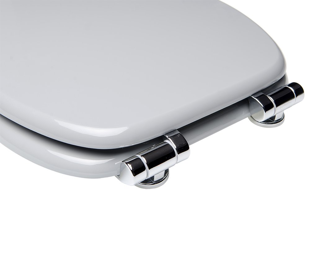 Soft Close Toilet Seat Stable Hinges Wide choice of monochrome toilet seats Easy to mount | Grey