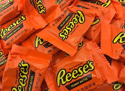 Reeses Chocolate Peanut Butter (REESE'S Peanut Butter Cups, Milk Chocolate, Snack Size (Pack of 2 Pounds))
