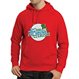 Hoodie I'm just Irish - Funny St Patty's Day Clothing, St Patrick's Day Sayings (X-Large Red Multi Color)