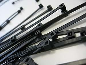 Bridas (7,8 x 365 mm, 100 unidades), color negro