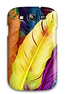 CaseyKBrown Galaxy S3 Well-designed Hard Case Cover Feathers In Colors Protector