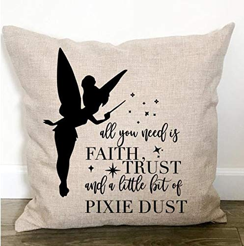 Tinkerbell Throw - Wini2342ckey Nursery Decor Throw Pillow - Tinkerbell Throw Pillow - Nursery Bedding Girl - Nursery Pillow