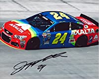 AUTOGRAPHED 2015 Jeff Gordon #24 Axalta Racing Team (Retro Rainbow) Bristol Motor Speedway On-Track Inscribed Signed Picture 8X10 NASCAR Glossy Photo with COA