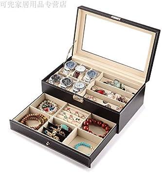 Nelson Jewellery Box, Joyero Organizador Pendientes Estuche para viaje a casa Almacenamiento portátil Caja de joyería con cerradura de doble capa, D: Amazon.es: Salud y cuidado personal