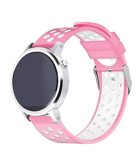 Zolimx Pulsera de Silicona Correa Fitness Smartband Elegantes Deportivos para Xiaomi Huami Amazfit Stratos 2/2S Reloj Inteligente (Rosa)