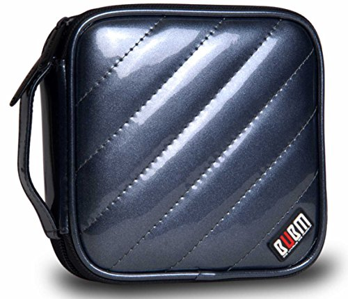 BUBM 32 Capacity PU Leather Cover CD/DVD Wallet,High Capacity Heavy Duty CD Wallet,Various Colors