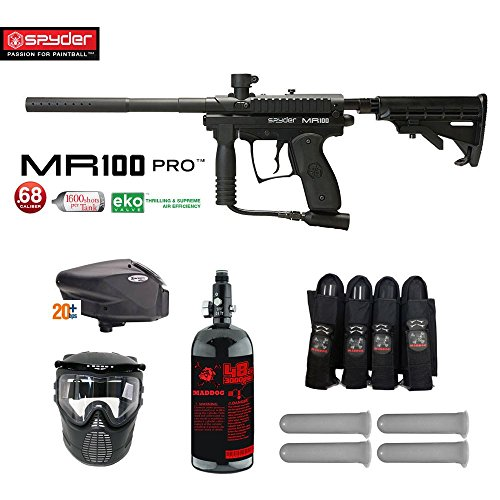 Spyder MR100 Pro Expert Paintball Gun Package - (Semi Pro Paintball Gun)