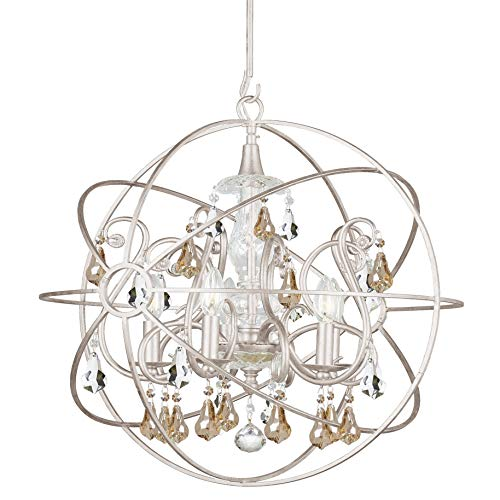 Crystorama Solaris Collection 5-Light Olde Silver Chandelier