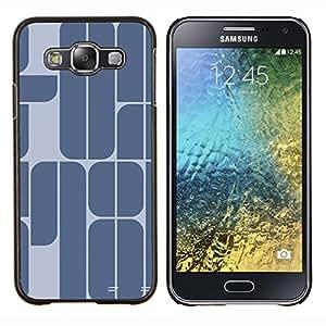"""Be-Star Único Patrón Plástico Duro Fundas Cover Cubre Hard Case Cover Para Samsung Galaxy E5 / SM-E500 ( 78 Año Azul Gris minimalista texto"""" )"""