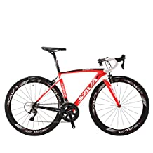 SAVADECK HERD5.0 700C Road Bike T800 Carbon Fiber Frame / 50MM Wheelset / Fork / Handlebar / Seatpost with Shimano 22 Speed 105 5800 Group Set HUTCHINSON 25C Tire and Fizik Saddle Ultra-light 18.30lb
