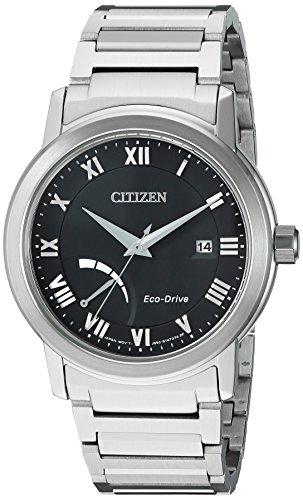 Citizen-Mens-Eco-Drive-Dress-Quartz-Stainless-Steel-Casual-Watch-ColorSilver-Toned-Model-AW7020-51E