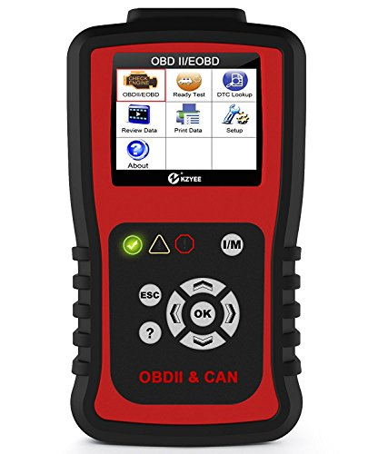Kzyee KC201 OBD2 Scanner, Universal EOBD/OBD II Car Code Reader/Eraser, Vehicle Engine Fault Code Diagnostic Scan Tool with Live Data for Diesel and Gasoline by Kzyee