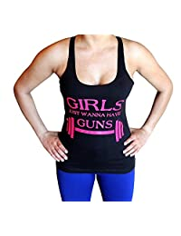 Girls just wanna have Guns Tank Top - Comfortable racerback to wear at Gym, Yoga, workout and crossfit
