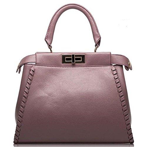 H&Y HY Damentaschen Damentaschen Damentaschen Rindsleder Tote Tasten Reißverschluss, Rosa B07F2CSRWN Schultertaschen Sorgfältig ausgewählte Materialien 2c45d1
