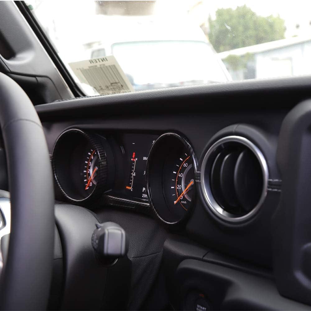 RT-TCZ Dashboard Cover ABS Dash Board Panel Trim Frame Bezel for Jeep Wrangler 2018-2021 JL JLU Sport X Sahara Rubicon