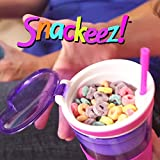 Snackeez Travel Snack & Drink Cup with Straw, Pink