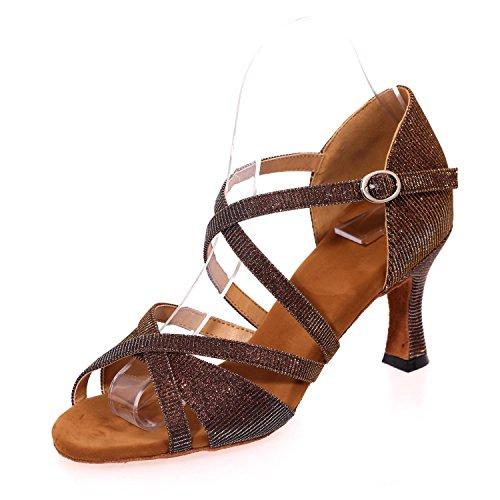 L@YC Zapatos De Baile Femeninos LatíN / amarillo /azul / MarróN / Rojo / Blanco / Negro Brown