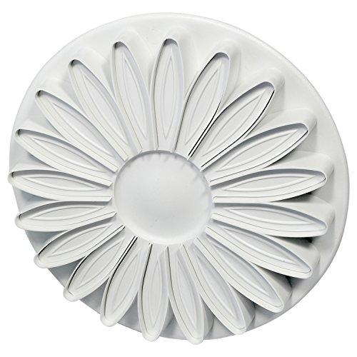 PME SD617 Veined Sunflower Gerbera & Daisy Plunger Cutter, Standard, White