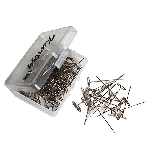 100 Pc Set of Stainless Steel T Pins By Kurtzy - Perfect For Dressmaking, Sewing, Knitting, Cushion Making and Upholstery Projects - Essential Tool For Beginner And Professional Use